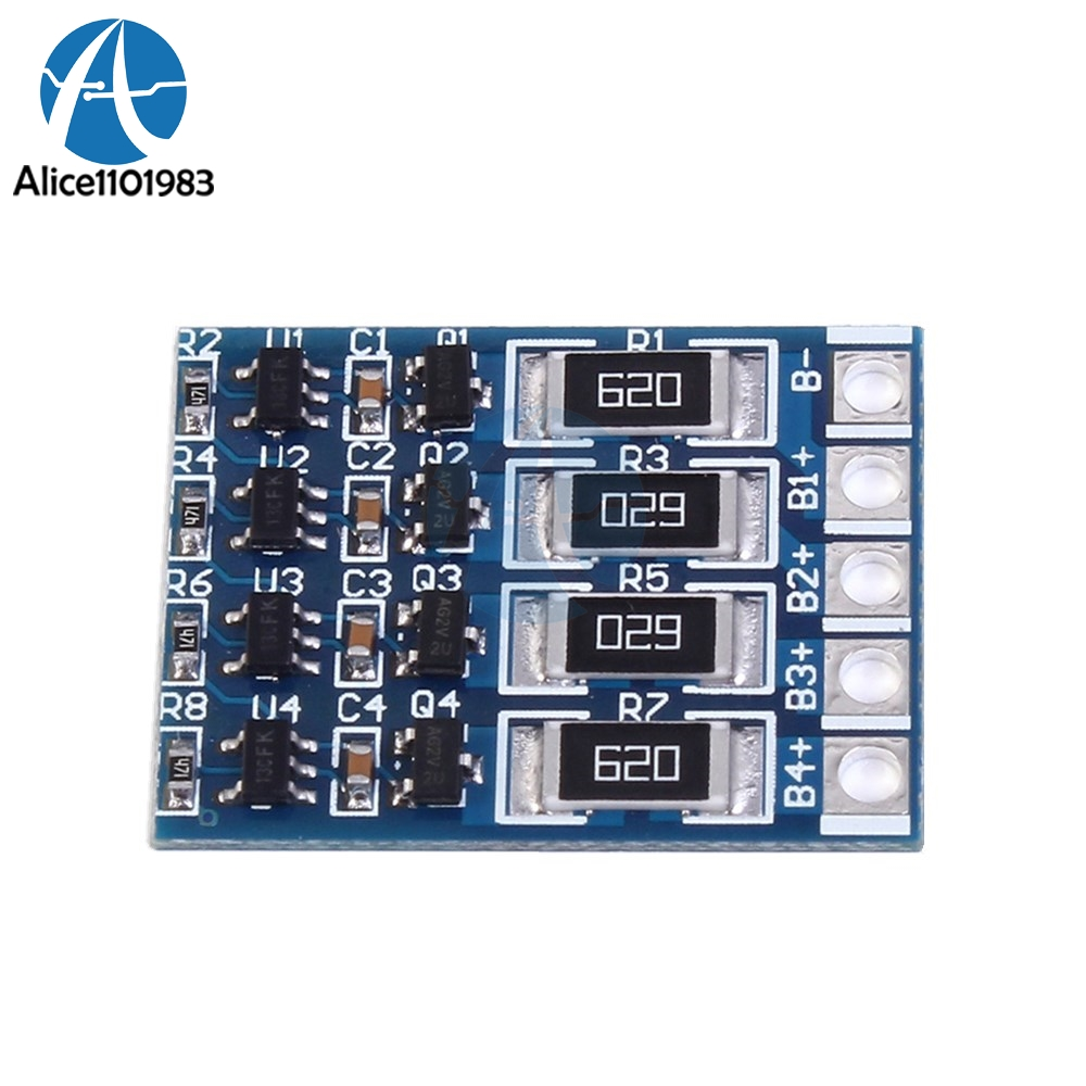 4s Li Ion Lipo Lithium Battery 18650 Charge Balance Protection Board Balancer Seven Segments 68ma Polymer Charging Module Bms In Integrated Circuits From Electronic