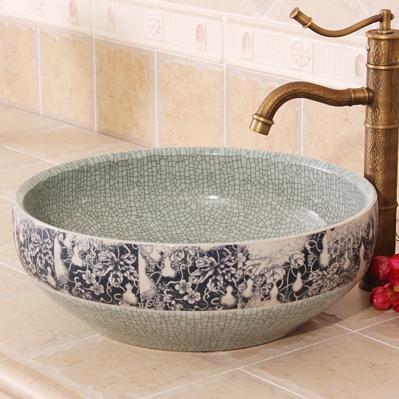 Glazed porcelain bathroom vanity bathroom sink bowl ...