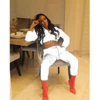 Women Reflective Outfits Crop Tops Pants Sets Two Piece Jumpsuit Playsuit Female Casual Reflective Set