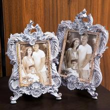 European Palace Style Sliver Photo Frame Quality Birthday Gift Party Decor Picture Frame 1pcs Desktop Table Frames For Pictures(China)