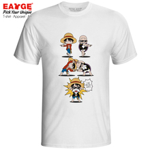 I Am Master Luffy T Shirt One Piece Fusion Dragon Ball Roshi T-shirt Anime Crossover Funny Design Men Women Tee