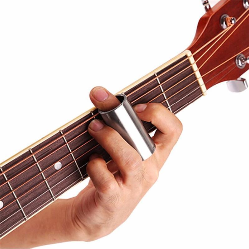 2 Pcs 60MM Glass Slide and Stainless Steel Slide Medium Bottleneck Slide for Guitar Bass (Transparent And Silver)