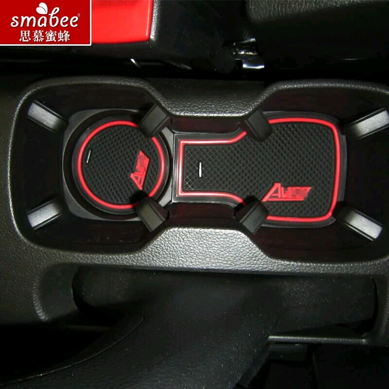 9pcs/set,For Chevrolet Aveo 2011 - 2014,Car Accessories 3D Rubber Mat Non-slip Mat Interior Cup Pad Door Groove Mat Smabee for mitsubishi outlander 2013 2014 2015 2016 accessories 3d rubber car mat anti slip mat interior door pad cup mat 14pcsoriginal
