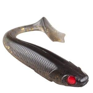 Image 2 - BASSKING 2019 nouveaux appâts souples 8 pièces 90mm 6.1g 3D yeux Silicone souple pêche leurre t tail artificiel leurre Wobbler pour la pêche à la carpe
