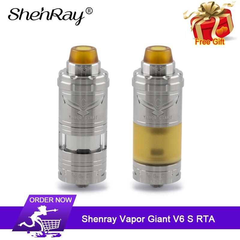 Shenray pary Giant V6S RTA 5.5 ml/7 ml 23mm Single Coil góry napełniania dół system przepływu powietrza E  cig Vape zbiornik parownik w Atomizery do elektronicznych papierosów od Elektronika użytkowa na  Grupa 1