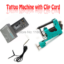 Stealth G2 Rotary Tattoo Machine Gun 2 Bearing+1 Allen Key+1 PC 8'FT Clip Cord Green Permanent Make-up Machine Liner&Shader