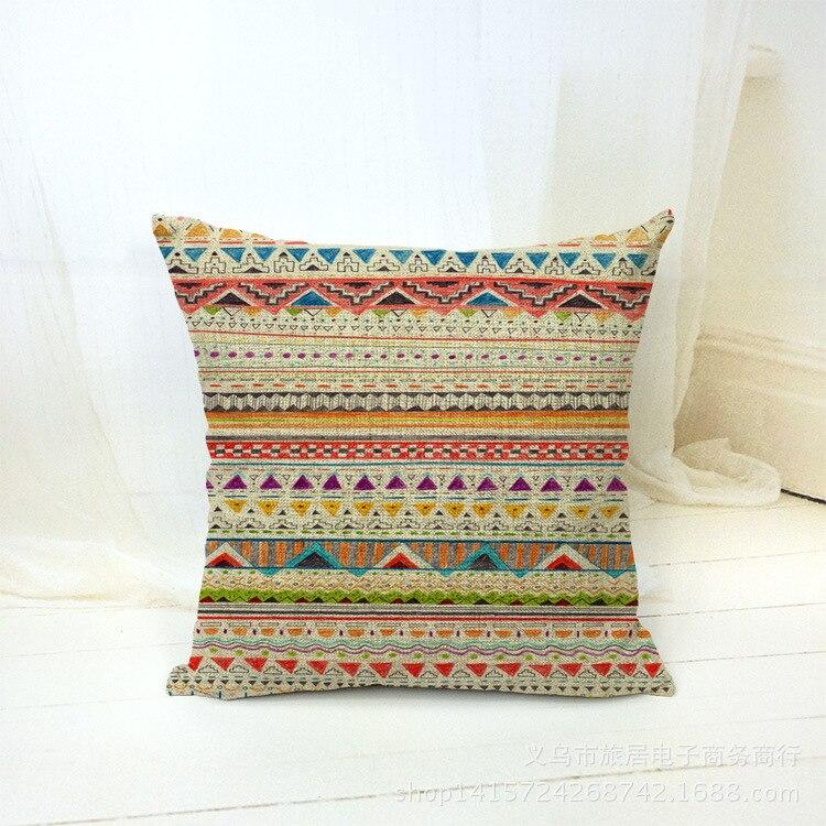 Национальный стиль в полоску Подушки Детские случае Чехлы для подушек Мода диване сиденье Наволочки много цветов на выбор f