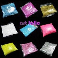 Atacado 100 gramas pacotes a granel extra ultra finas pó de glitter poeira arte de unhas dicas artesanato corpo decoração escolha de cor 100g