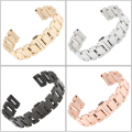 New 18mm 20mm 21mm 22mm Rose Gold Stainless Steel Watch Band Double Push Buckle Clasps Strap Bracelet For Men Lady Watches