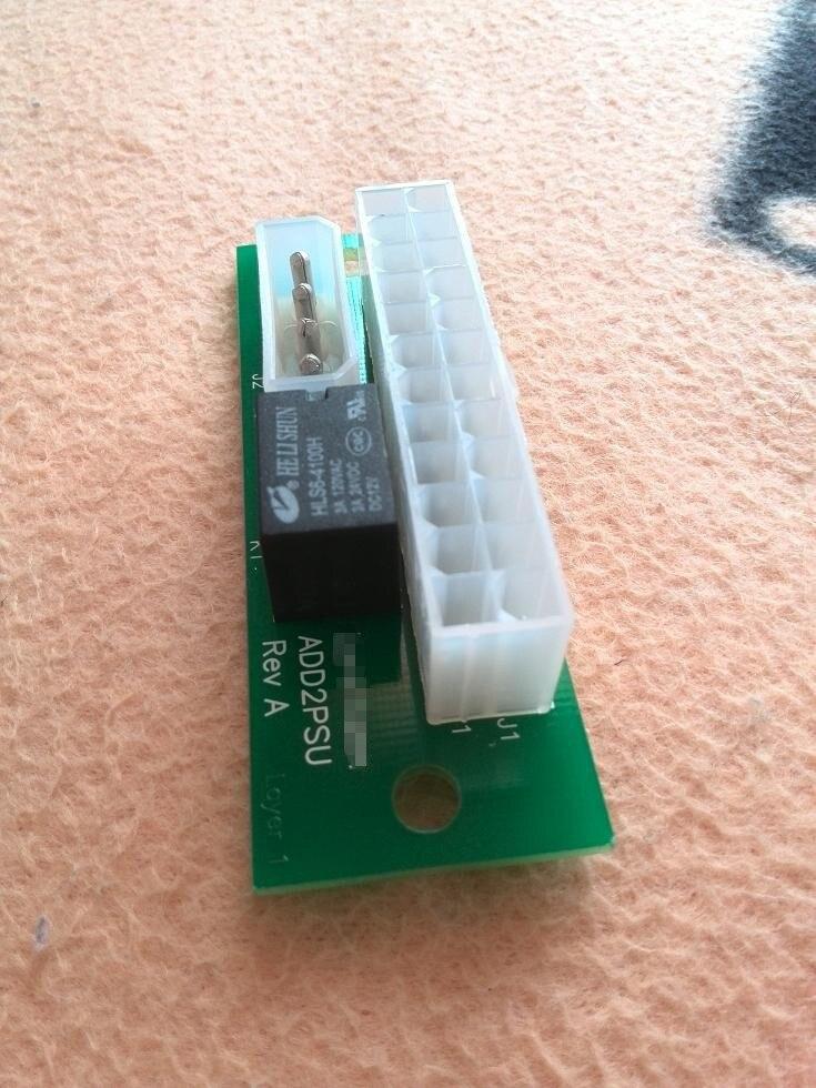 bilder für Drop Verschiffen Dual Dreifache Stromversorgung Adapter Stecker Relais Adapter Mehrere add2PSU