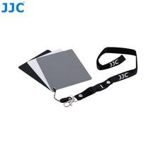 JJC สีขาวสมดุลที่ถูกต้อง 3 in 1Color Balancing เครื่องมือคอ 130x100x24 มม. Digital Grey Card สำหรับ Canon/Nikon/Sony