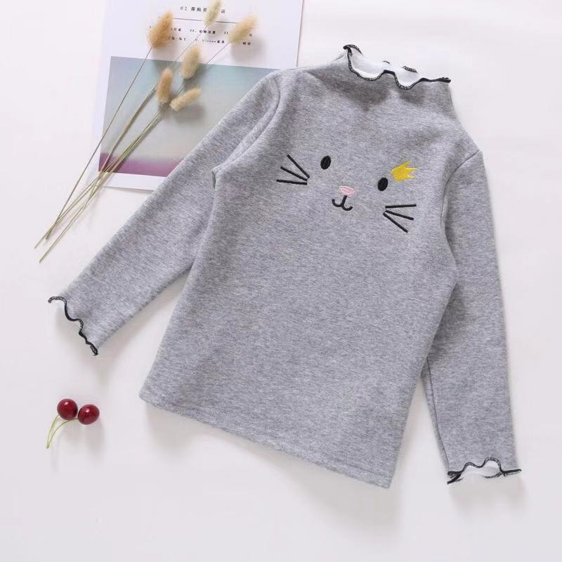 PPXX Baby Girl Sweater Cardigan Kids Sweatershirts Children Clothing Winter Autumn Sweater Tshirt Long Cartoon Cat Sweatershirt 2