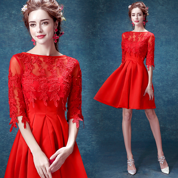 Red Crazy Lace Wedding Dresses