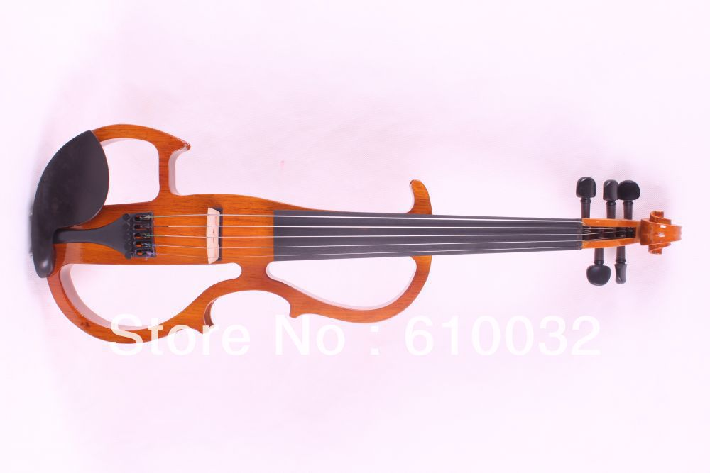5 strings 4/4 Electric Violin Silent Pickup Fine tone parts include New Golden Color #8-11 yellow color 4 4 electric violin patent silent pickup 2 05