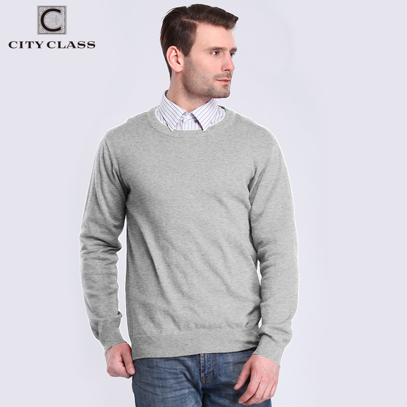City Class 2018 Sweater and Pullovers Men Pull Homme Blusa Masculina Solit Color Casual 100% cotton Pullovers Tops for male 3549