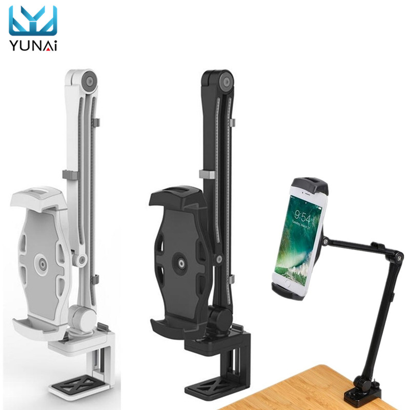 YUNAI 360 Universal Lazy Bed Desktop Tablet Stand Mount Holder For Smart Phone For iPad New tablet Holder Mount Stand For lenovo стоимость