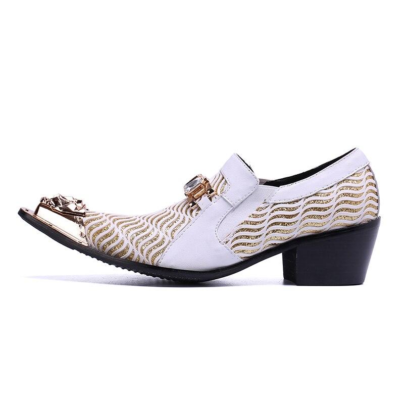 Branco Formal Oxfords De Negócios Sapatos Trabalho Homens Dos Vestido Plus Size Alto Casamento Vivodsicco Mens Salto Homem Couro Pq1OT