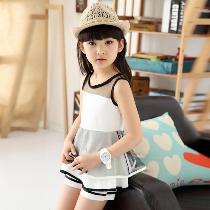 Summer Girls Clothing Set Fashion 4 5 6 7 8 9 10 11 13 Years Childrens Clothing Sleeveless Vest Shorts 2pcs Kids Suits for Girl