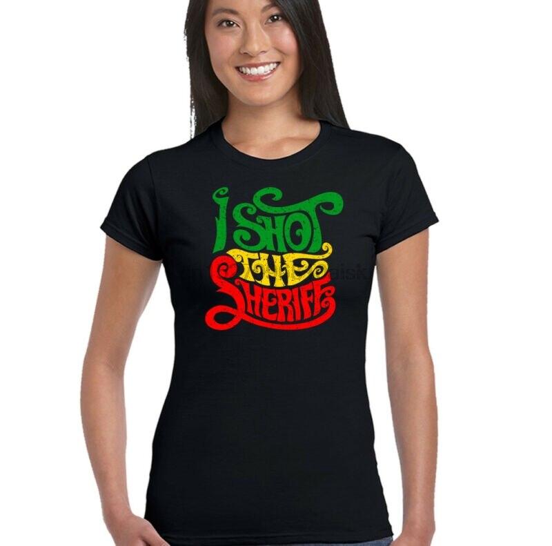 I Shot The Sheriff Bob Marley Womens Reggae T-shirt Music The Wailers Jamaica