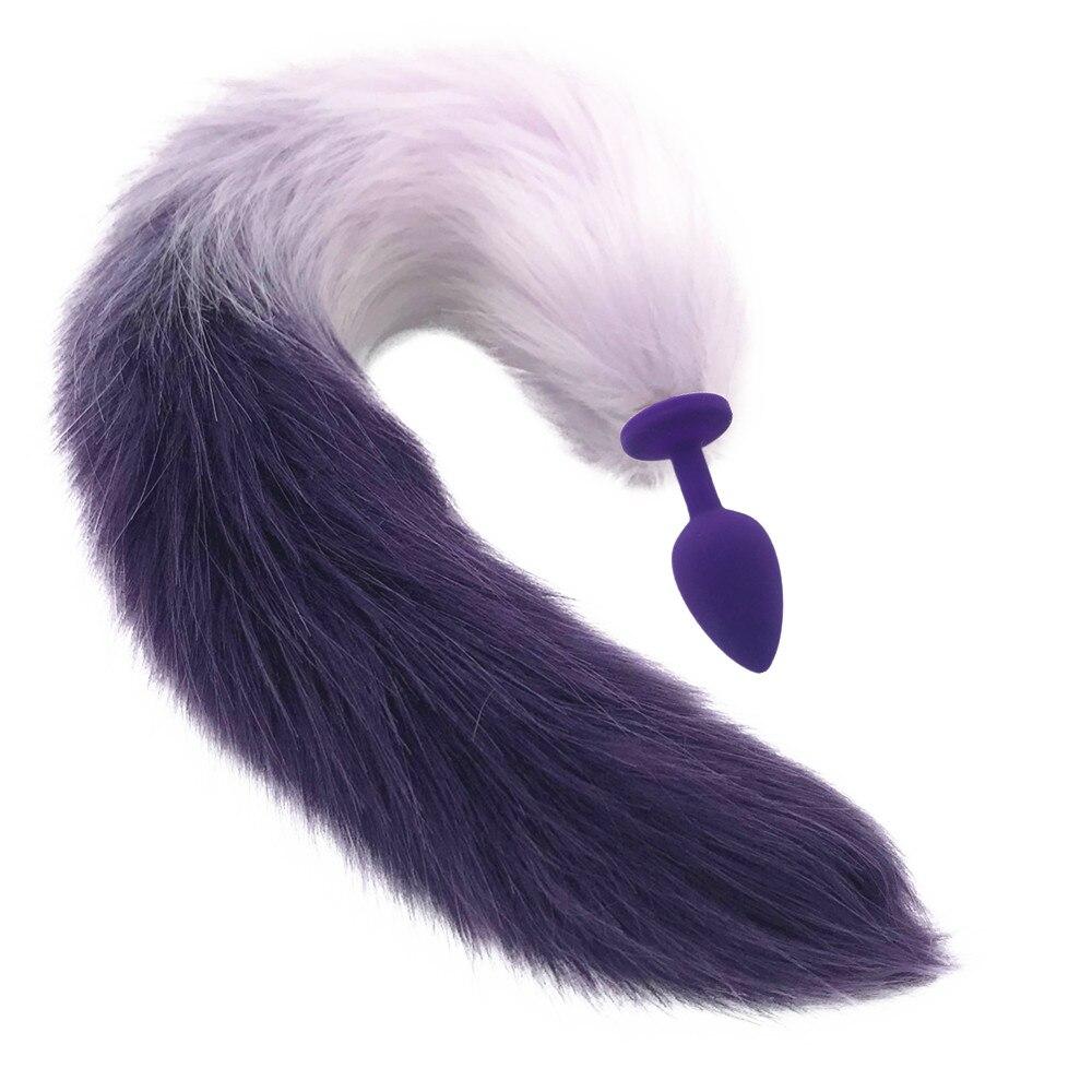 1 PC New Fantasy Toy Love Faux Fur Fox Tail Metal Plug Romance Games Cosplay