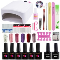 Nail Polish Kit 36W UV Lamp Nail Dryer For Nail Manicure Set 6PCS Polish Semi Permanent UV Gel Nail Art Tools For Manicure