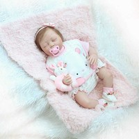NPK 22 дюймов реалистичные Спящая кукла набор силиконовых Reborn новорожденный куклы для детей Playmat подарок BM88