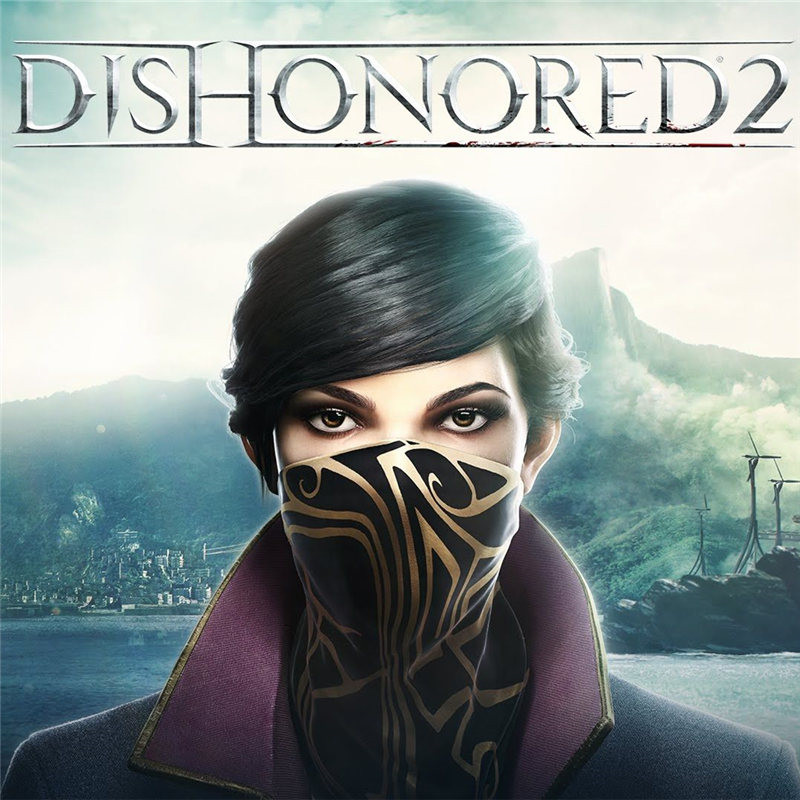 Game Dishonored 2 Emily Drexel Lela Kaldwin Cosplay Mask Cosplay Props Costume Scarf