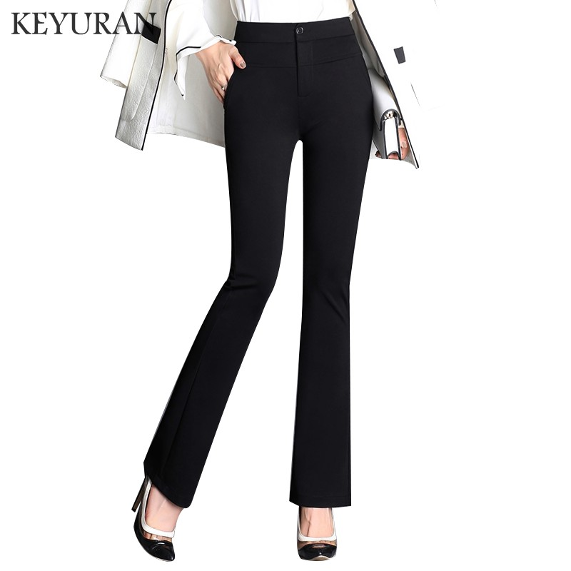 US $17.33 30% OFF|Plus Size 4XL Trousers Women straight Flare Pants Spring  Summer Casual OL Formal Pants Women Office Dress Pants Long Trousers-in ...
