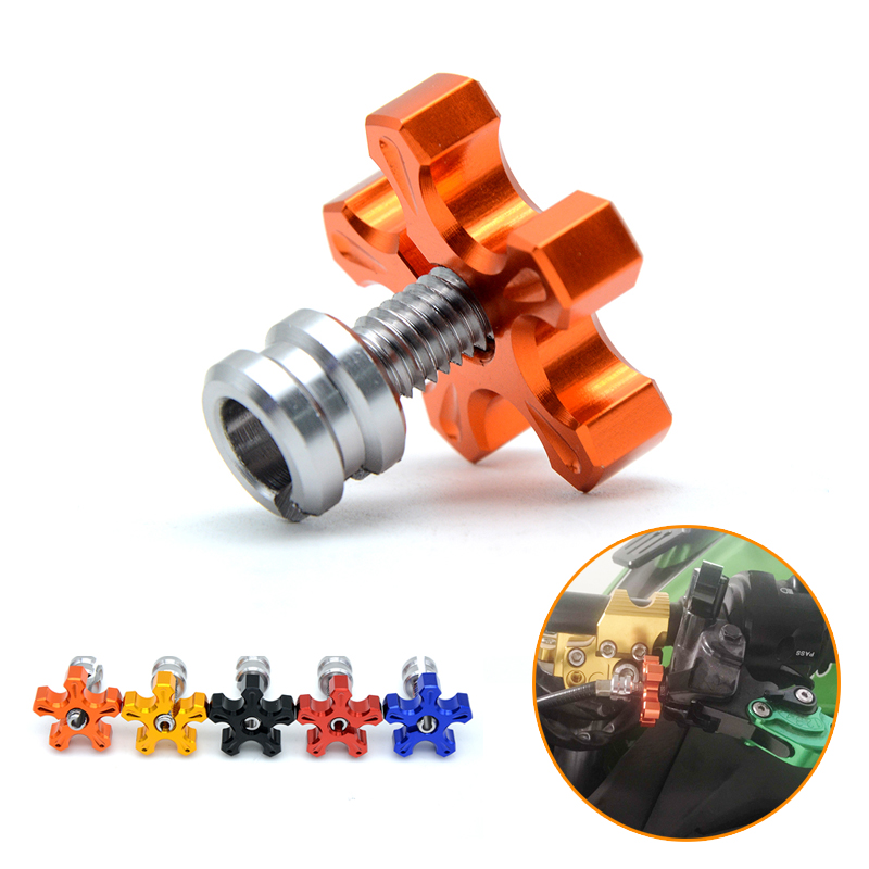 M8*1.25 Universal Motorcycle CNC Aluminum Clutch Cable Wire Adjuster For KTM 690 390 DUKE 1290 Super Duke R RC 390 990 SUPER universal motorcycle accessories gear shifter shoe case cover protector for ktm duke 125 200 390 690 990 350 1290 adventure exc