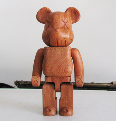 Quality Guaranteed Red Rose Wooden Kaws Bearbrick Be@rbrick MOMO Bear 400%(28cm) hot selling oversize 1000% bearbrick luxury lady ch be rbrick medicom toy 52cm zy503