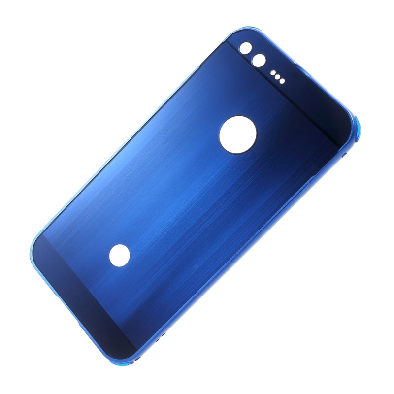 Shell for Google Pixel XL Phone Cases Slide on Metal Frame Brushed PC Plated Cover for