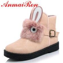 цены на ANMAIRON New Autumn/Winter Platform Ankle Boots Slip-on Fashion Warm Buckle Women Boots Cute Short Boots Big Size 34-45 Winter  в интернет-магазинах