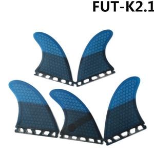 Image 3 - Surf Future Fin K2.1 Surfboard Fins Blue color Fiberglass Honeycomb Tri Quad Fins Quilhas Thruster 5 fin Set