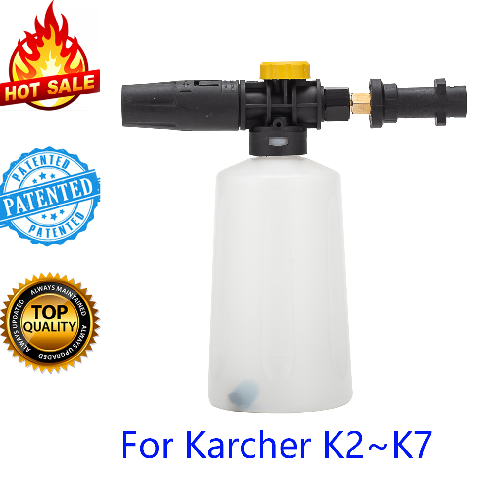 Snow foam lance/ foamer gun cannon/ Foam Generator/ Foam Nozzle/ CarWash Soap Sprayer for Karcher K Series High Pressure Washer-in Water Gun & Snow Foam Lance from Automobiles & Motorcycles