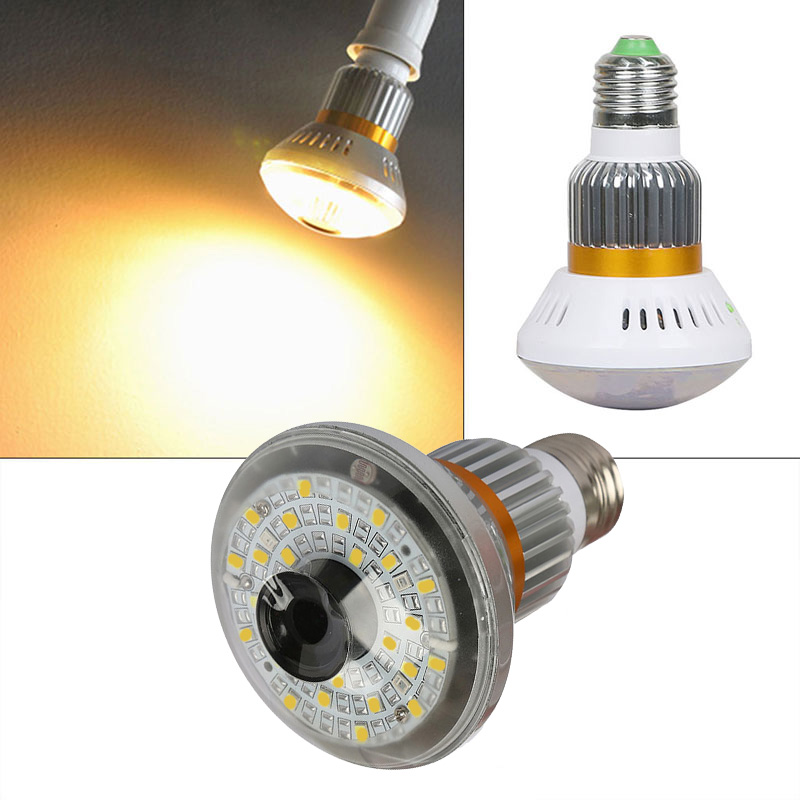 BC-885Y Led Bulb WiFi/AP HD 960P P2P IP Network Camera with 5W Warm Light Night Vision Video Surveillance Camera keyshare dual bulb night vision led light kit for remote control drones
