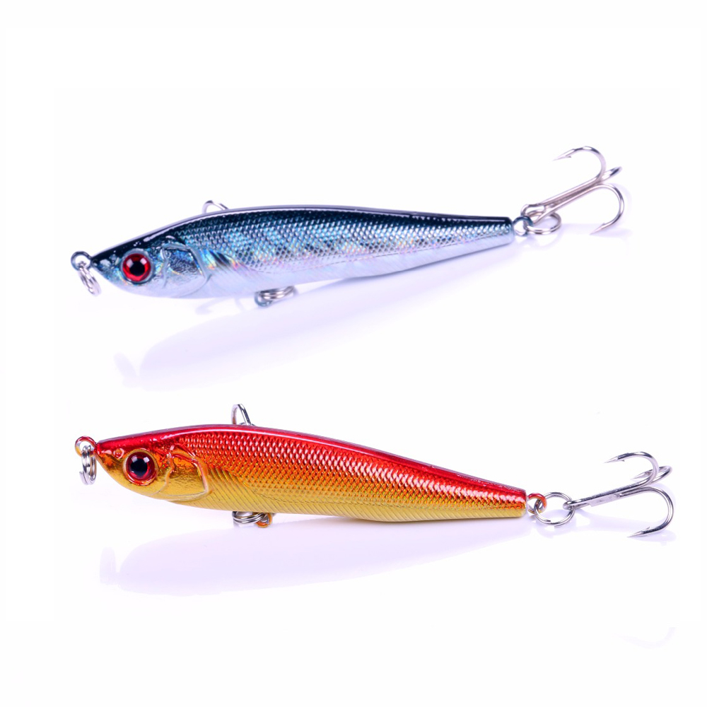 Balleo 9cm/14g 22g hard lure sinking pencil lure Ice fishing Minnow Fishing lure with treble hook carp fishing fly fishing Pike wldslure 1pc 54g minnow sea fishing crankbait bass hard bait tuna lures wobbler trolling lure treble hook
