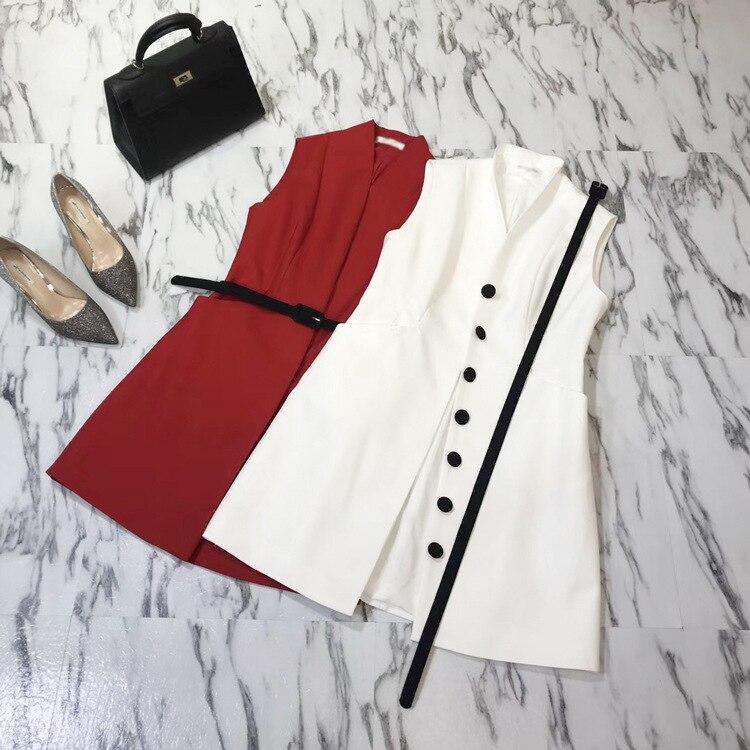 Designer Nouvelles Unique Marques Europe Robes Dames Luxe Poitrine Top De Robe Qualité Femmes Collection 2018 41wp8OPW