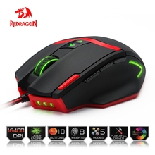 Redragon Gaming Mouse PC 16400 DPI speed Laser engine 9 programmable buttons 16 color backlight USB Wired for Desktop mouse