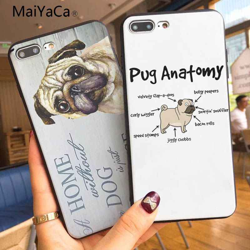 MaiYaCa Pug Na Venda de Luxo Legal Acessórios Do Telefone Caso Para Apple iphone 5 5s 5c SE E 6 6 s 7 7 plus 8 8 plus para telefone caso