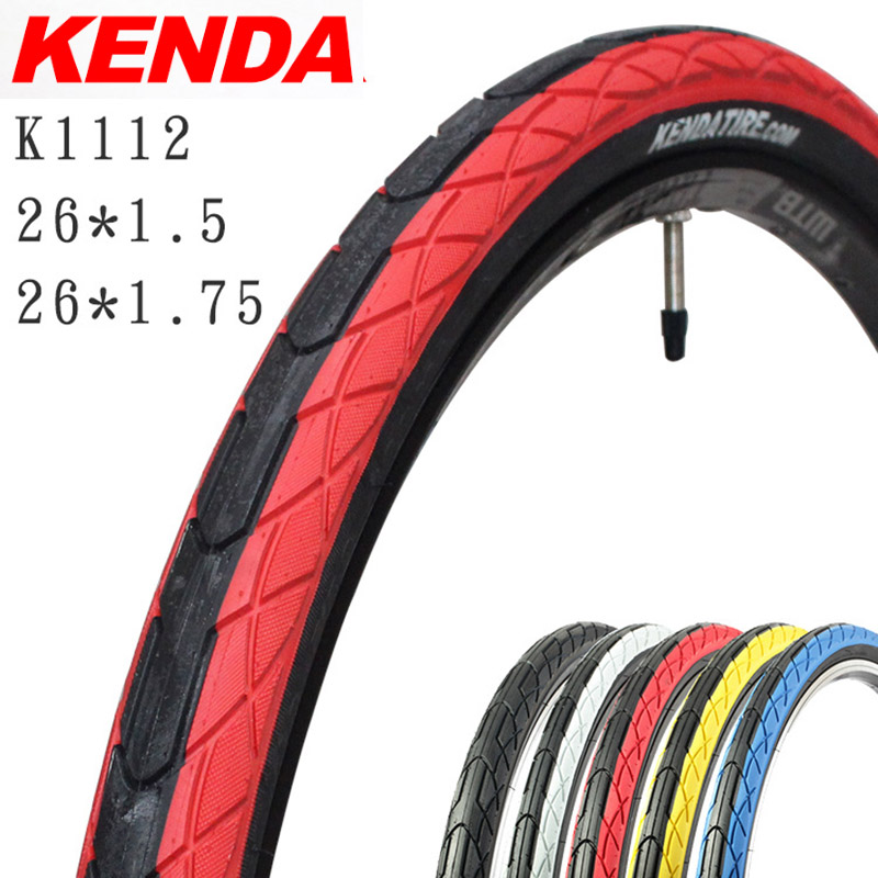 KENDA 26 K1112 1PC Mountain Bike Tire 26*1.5 26*1.75 2 Style Folding/Unfoldable Tyre 30/60tpi Black Red Blue Yellow White Tires luoxiaohei style polyester spandex doll toy decoration black yellow blue white