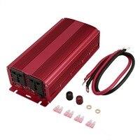 Портативный 1500 Вт/3000 Вт питания автомобильный инвертор с ЖК дисплей Автомобильный преобразователь питания с двойной USB порты