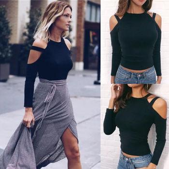 2017 Autumn Fashion Womens Summer Long Sleeve Shirt Casual Loose Cotton Tops T Shirt