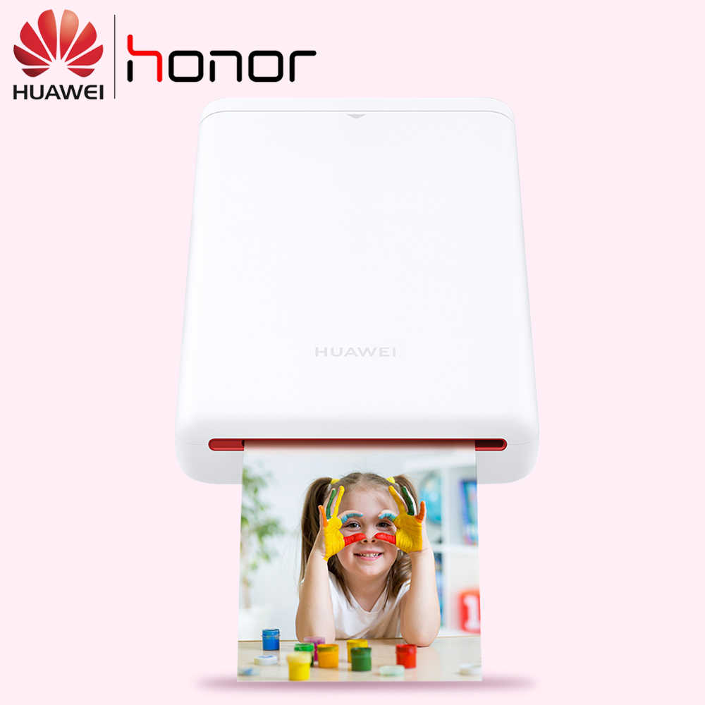 AR Printer 300 Dpi Asli Huawei Zink Portable Photo Printer Kehormatan Saku Printer Bluetooth 4.1 Dukungan DIY Saham 500 MAh