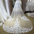 Wedding Veils Vestido De Noiva Long Wedding Veil Appliques White Ivory Bridal Veils