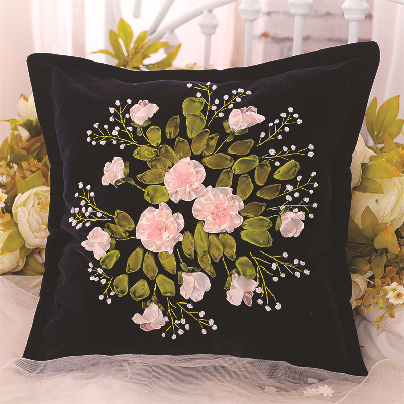 Throw Pillow Case 16/×16 Inches Bear Panda Wild Animals DIY Embroidery Needlepoint Cushion Cover Front Home Decor China European Quality Cross Stitch Kit Bamboo Printed Tapestry Canvas