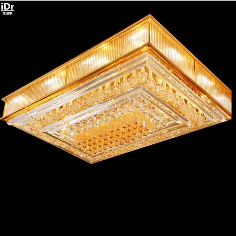 Modern crystal lamp lights restaurant minimalist atmosphere led lamp factory direct light villa lobby ceiling lights lmy 031
