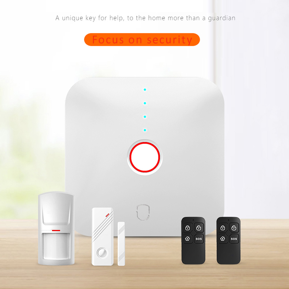 WIFI Alarm System For Security Alarm Wireless 433MHz PIR Motion Detector Remote control Door Open Alarm Apps control smart home forecum 433mhz wireless magnetic door window sensor alarm detector for rolling door and roller shutter home burglar alarm system