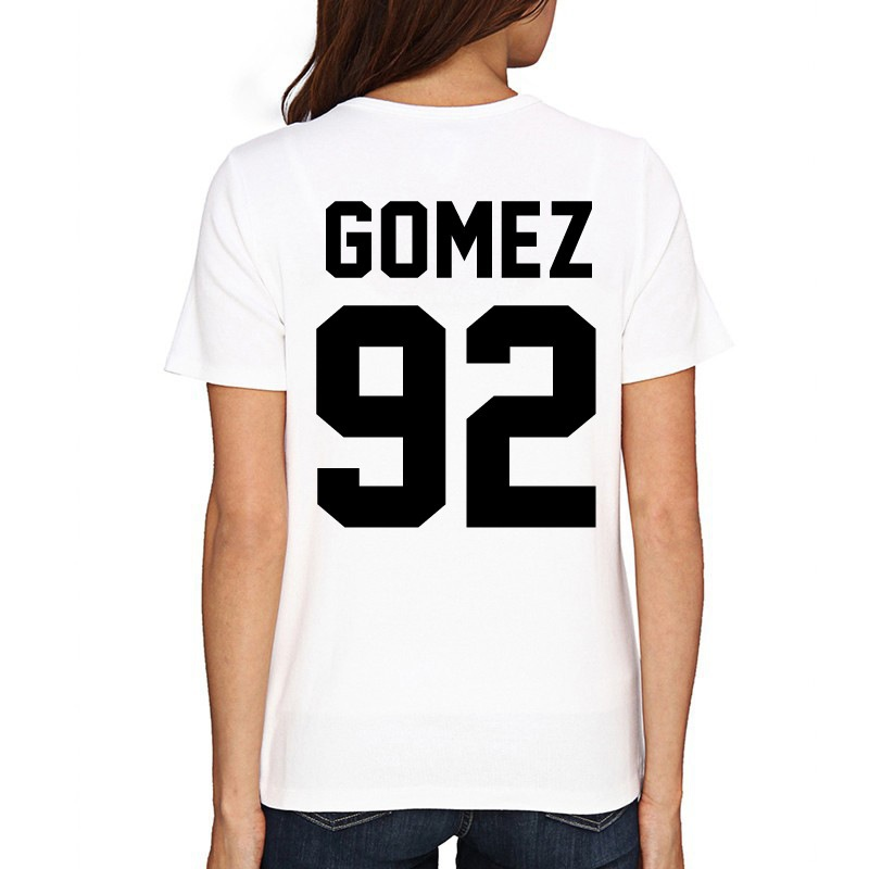 Selena Gomez Shirt GOMEZ 92 Print on Back Side T Shirt Women Men T Shirt Casual Cotton Funny Shirt Drop Shipping