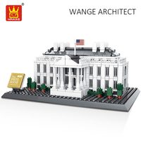 WANGE Building Blocks The White House City Bricks World Great Architecture Plastic Assembly Toys for Children Educational DIY