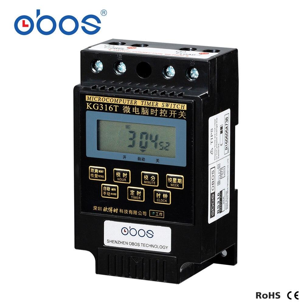 220V Interruptor de temporizador digital KG316T 220V Interruptor de temporizador programable Interruptor de control de tiempo del microordenador
